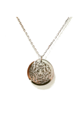 Ażurowe kółeczko srebrne celebrytka pr 925