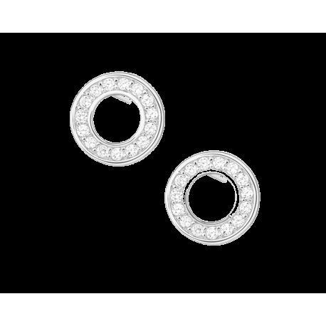 Kolczyki srebrne z dużą cyrkonią pr srebra 925