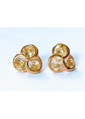 Kolczyki rozetki z kryształami Swarowskiego