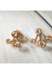 Kolczyki krzaczki z kryształami Swarowskiego