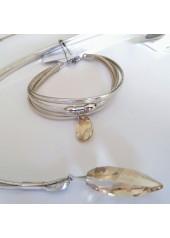 Naszyjnik z Kryształem Swarovski Spitz złoto
