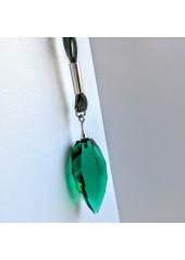 Naszyjnik z Kryształem Swarovski Spitz zieleń