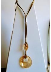 Naszyjnik z Kryształami Swarovsky Elipse Miodowy