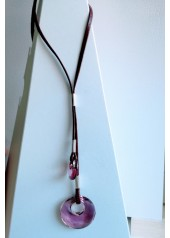 Naszyjnik z Kryształami Swarovsky Elipse bordowy