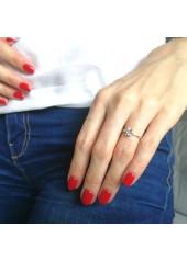 Duże oczko - pierścionek z dużym oczkiem z cyrkonią, nr 912 E, srebro pr. 925 Katalog Produkty