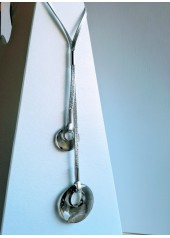 Naszyjnik z Kryształami Swarovski Elipse Srebrny długi