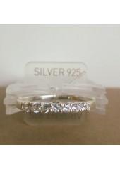 Paseczek - pierścionek z cyrkoniami, nr 907 E, srebro pr.925