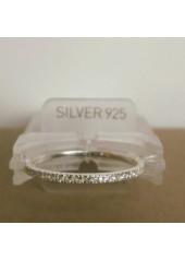Paseczek - pieścionek - obrączka z cyrkoniami nr 983A A. Srebro pr.925
