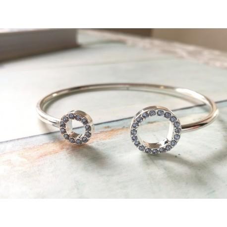 Bransoletka Ring srebna Kryształy Swarovskiego