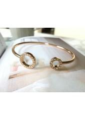 Bransoletka Ring złota Kryształy Swarovskiego